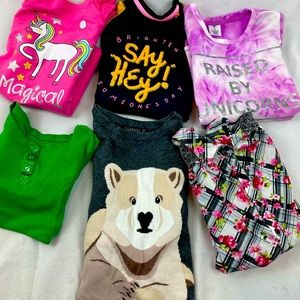 Lot of girl tops size 8 long sleeve (8 ct)
